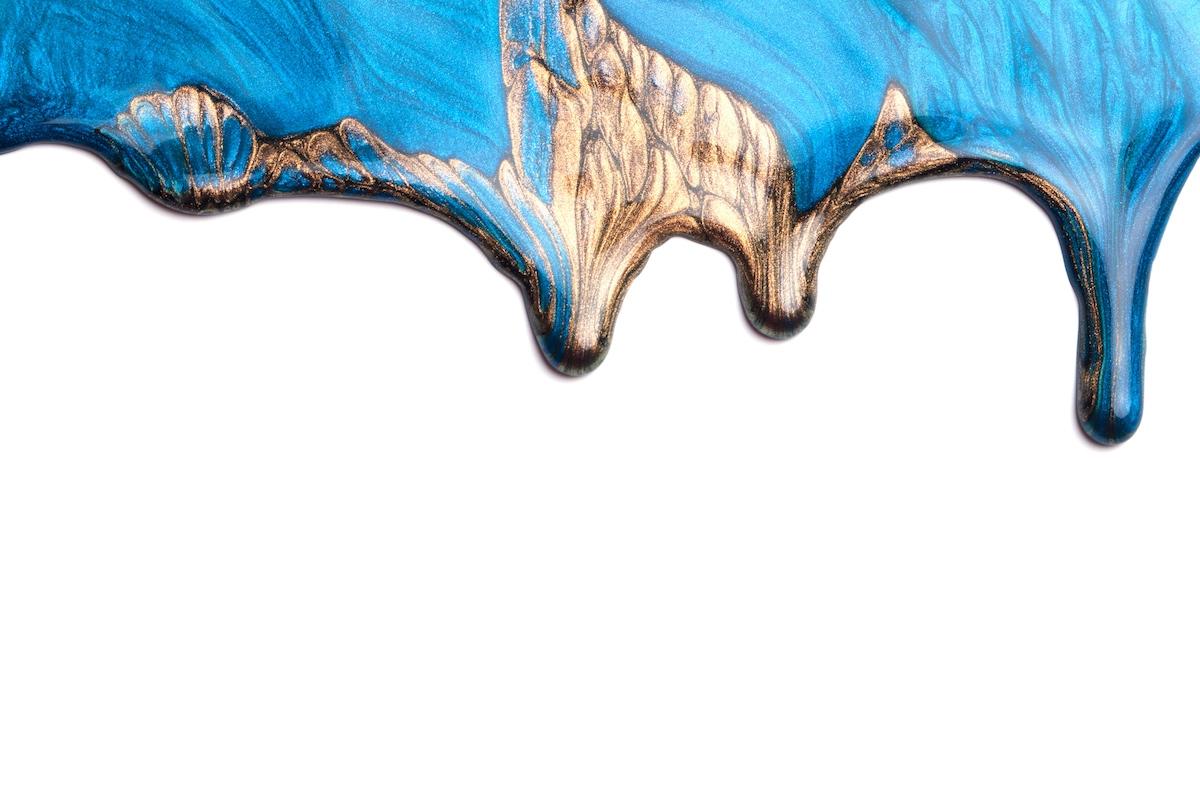 Epoxidharz Metallic Farbe