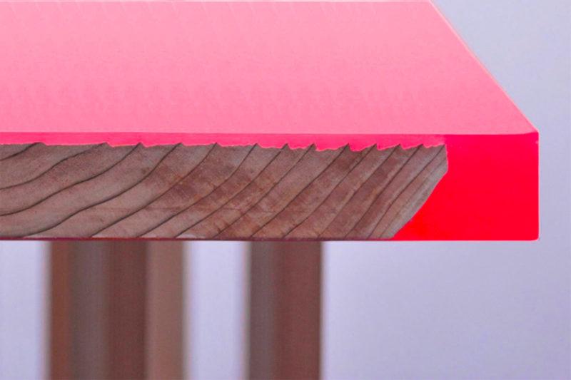 epoxidharz tisch neon pink