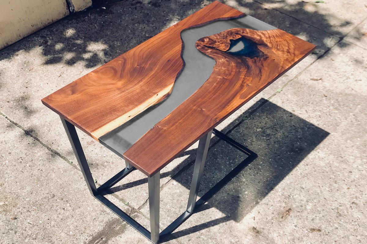 semi transparent grey epoxidharz epodex. Black Bedroom Furniture Sets. Home Design Ideas