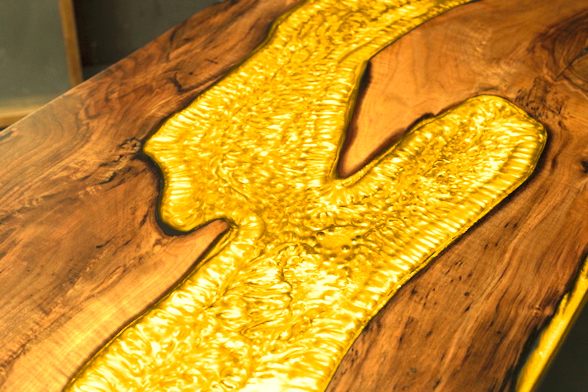 Yellow Gold Epoxy Resin Epodex