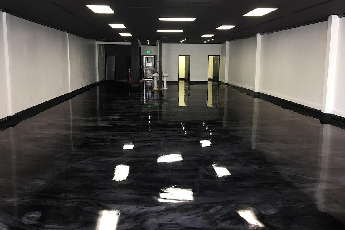 Deep Black Amp Pearl White Epoxy Floor Incl Primer Epodex