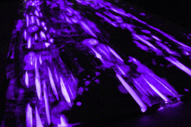 epodex glowinthedark epoxidharz purple
