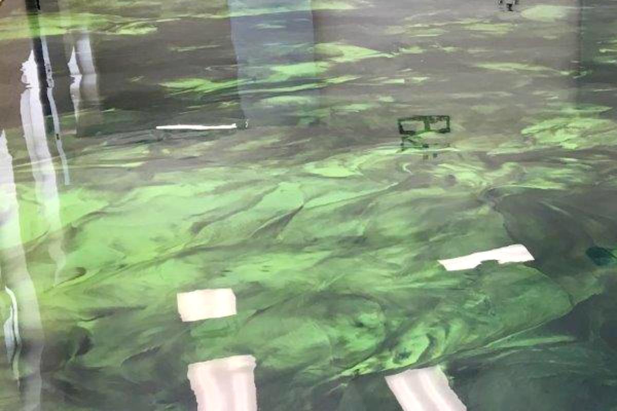bahia green deep black epoxidharzboden inkl. Black Bedroom Furniture Sets. Home Design Ideas