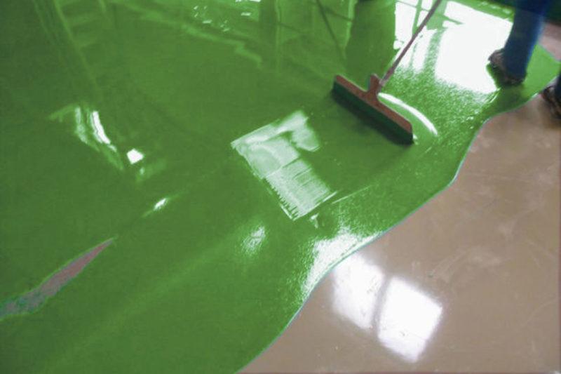 epoxidharz fußboden kunstharz gießen epoxy grasgruen