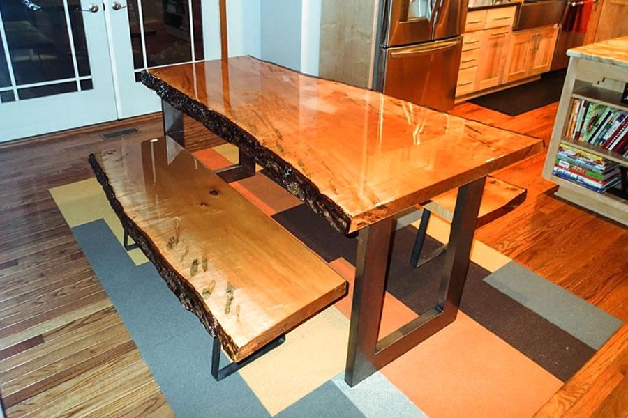 epoxidharz Bank und Tisch