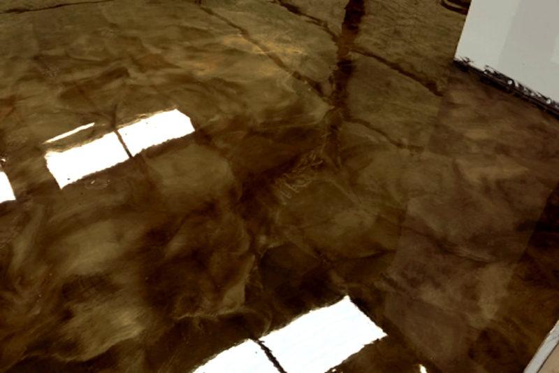 harzboden industrieboden-epoxidharz dark brown