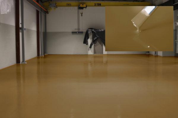 industrie fußboden beschichtung epoxidharz ral1011 braunbeige