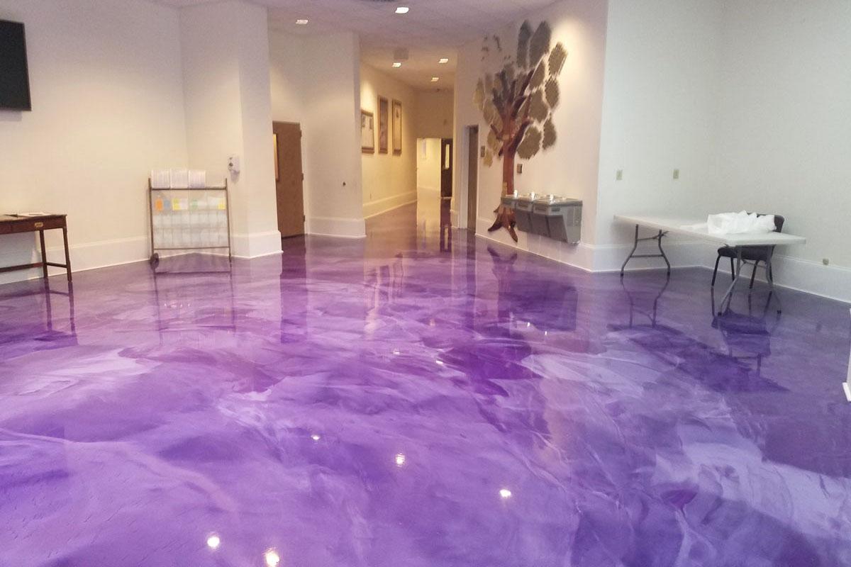 Lotos Lilac Pearl White Epoxy Floor