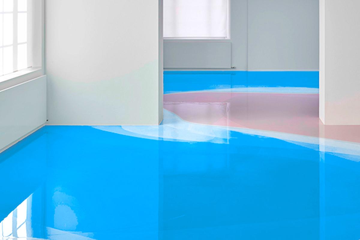 neon blue epoxidharzboden inkl grundierung epodex. Black Bedroom Furniture Sets. Home Design Ideas