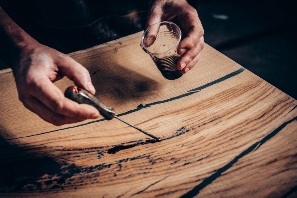 Berühmt Mit Epoxidharz Holz und viels mehr bearbeiten ✓ In alle Farben ZC65