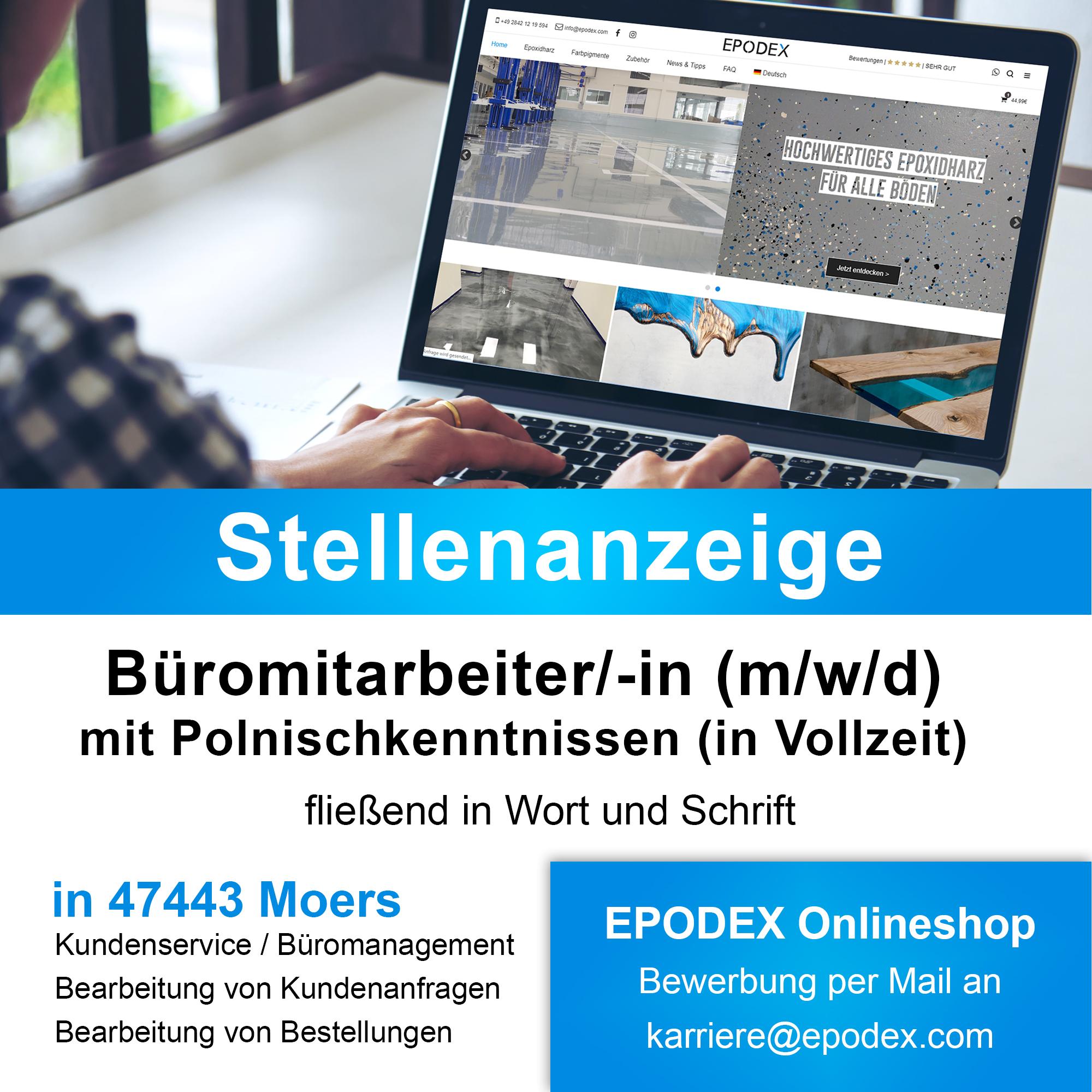 Büromitarbeiter/-in (m/w/d) mit Polnischkenntnissen (in Vollzeit)