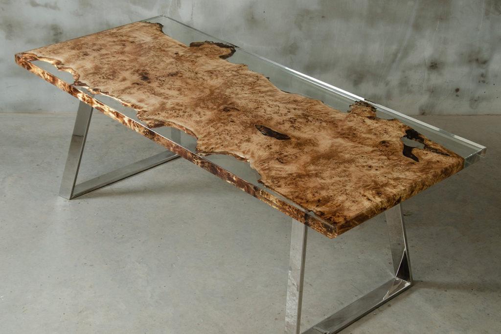 Epoxidharz Tisch selber beschichten bauen   EPODEX