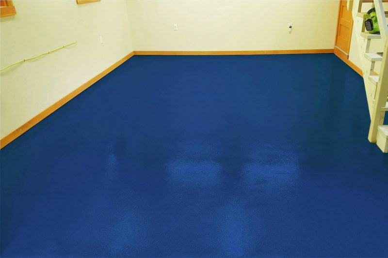 epoxidharz boden gießharz ral5009 azurblau