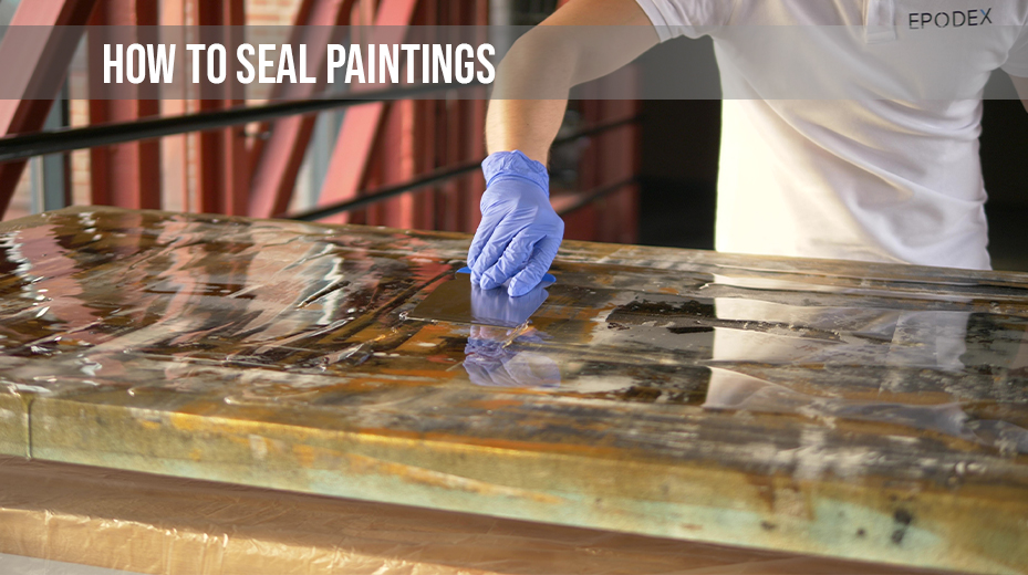 epoxy paint seal acrylic painting