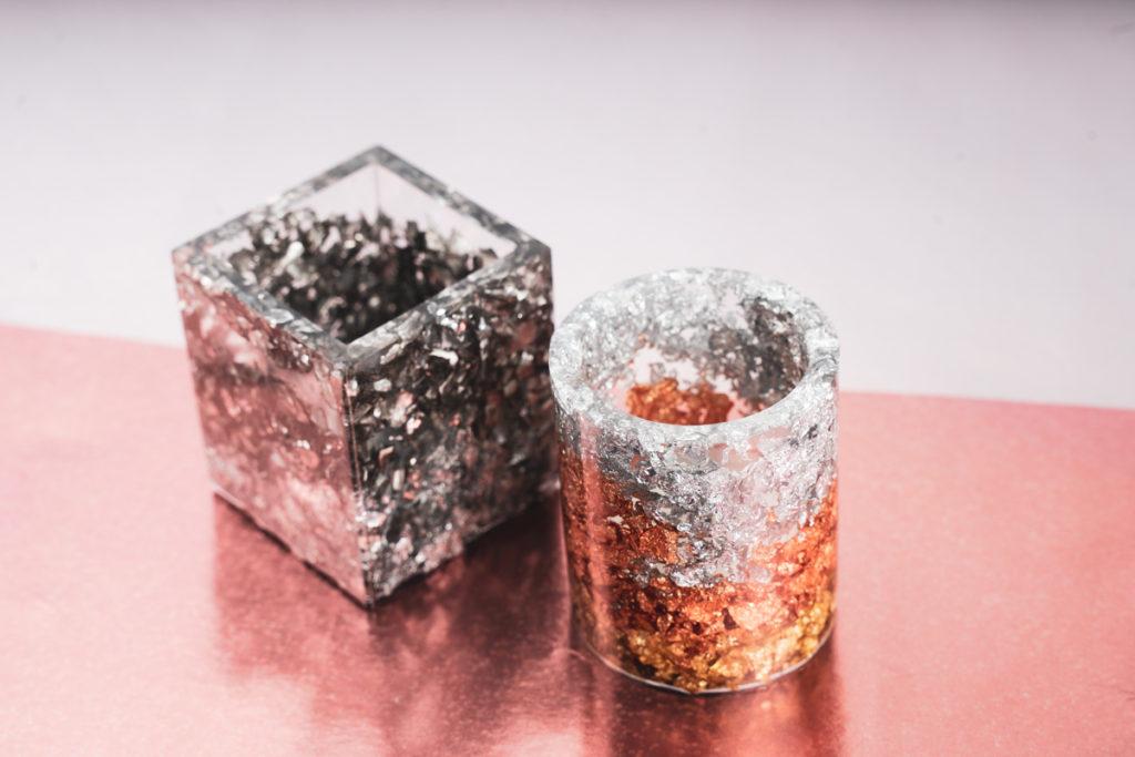 kerzenhalter epoxy resin diy