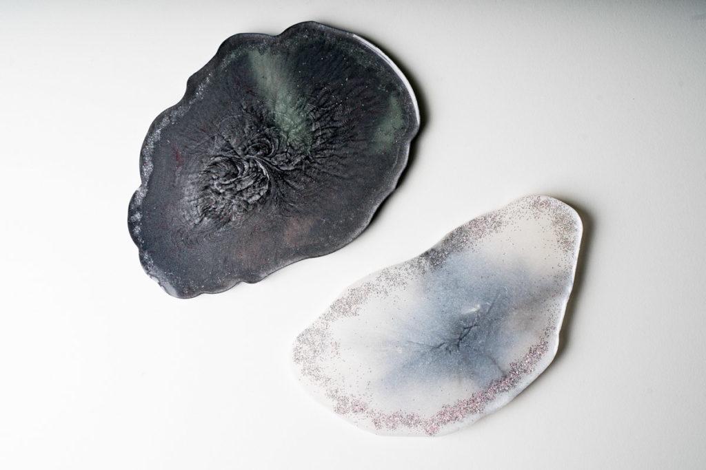 resin untersetzer geode aus epoxidharz