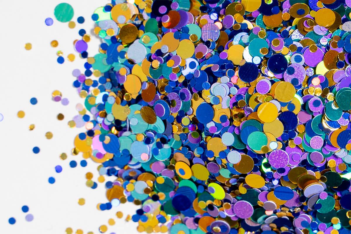 epoxidharz glitter farbe flake flower power