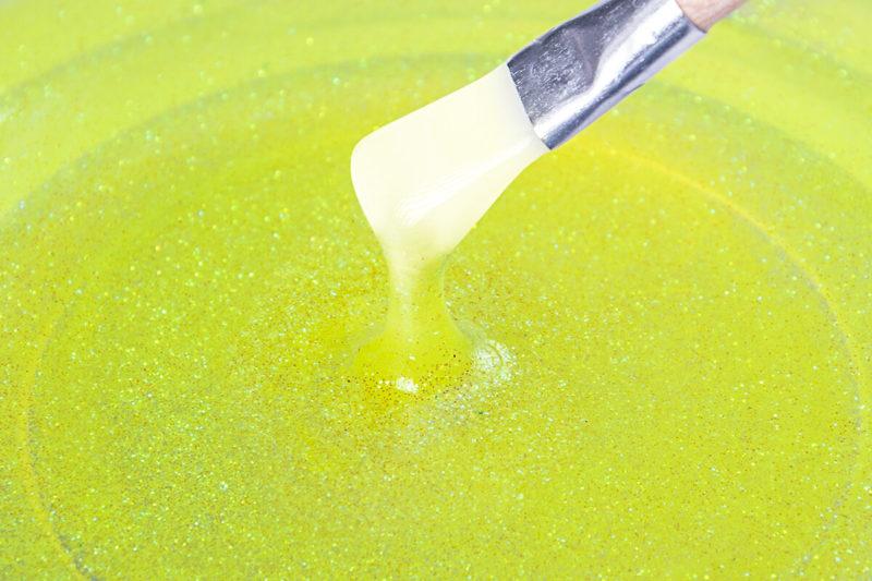 epoxy glitter glitzer pigment holographic yellow