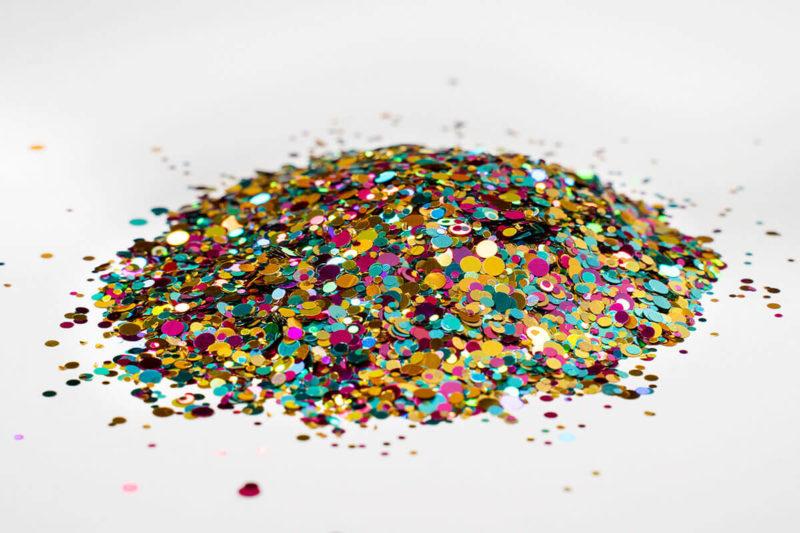 glitter glitzer farbe flake rainbow