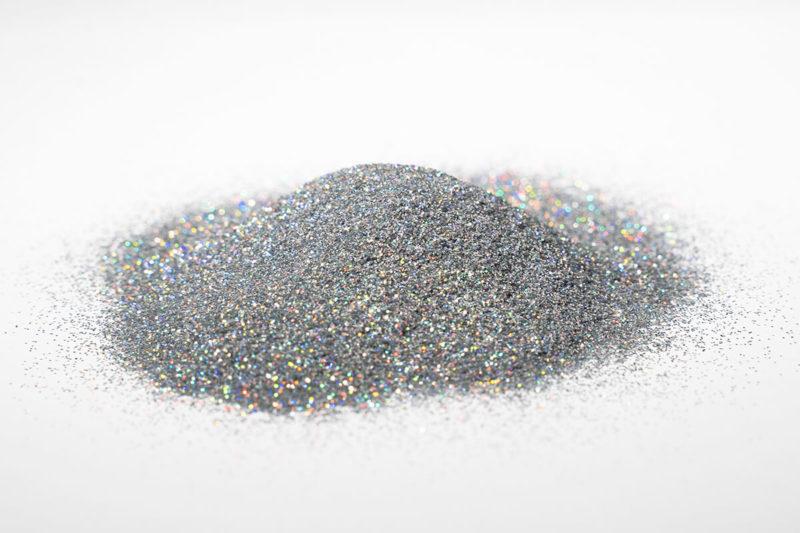 glitter glitzer farbe pigment silver holographic