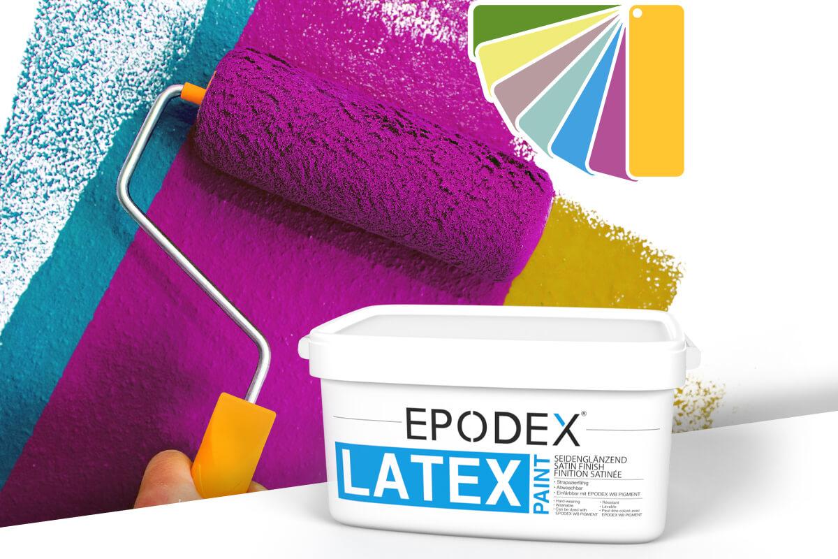 Latex paint epodex bunt