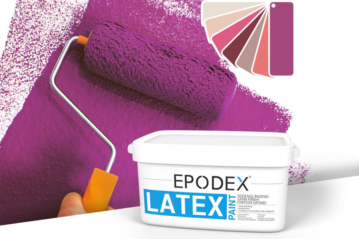 Latex paint epodex pink violett