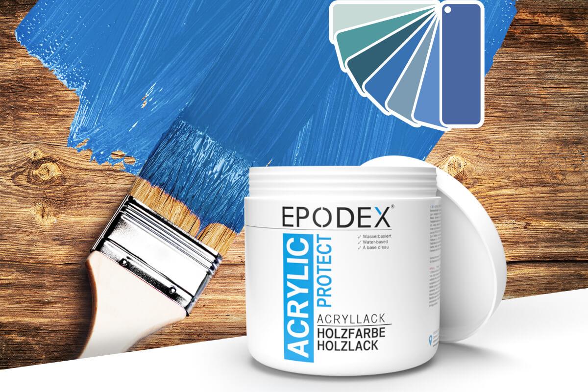 acryllack holzfarbe blau