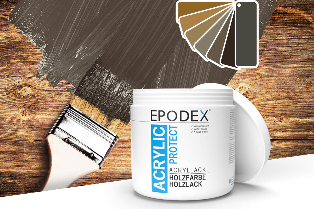 acryllack holzfarbe brown