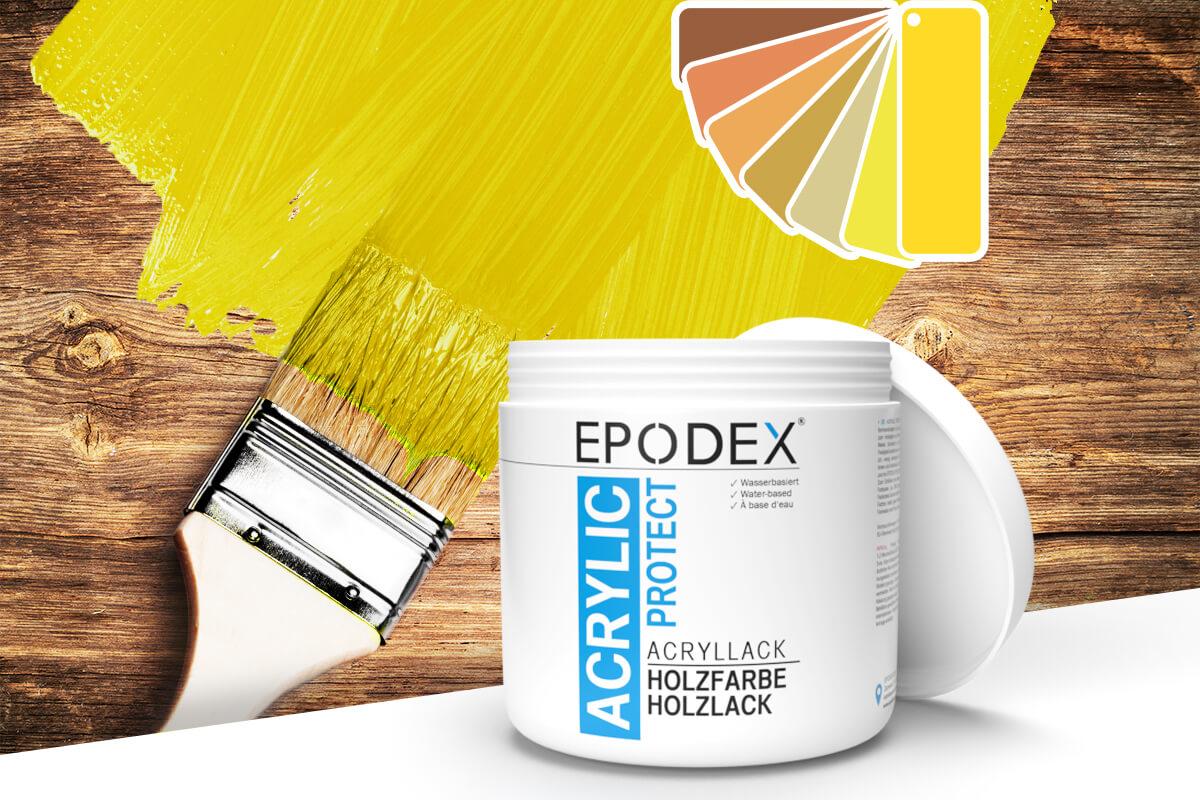 acryllack holzfarbe gelb
