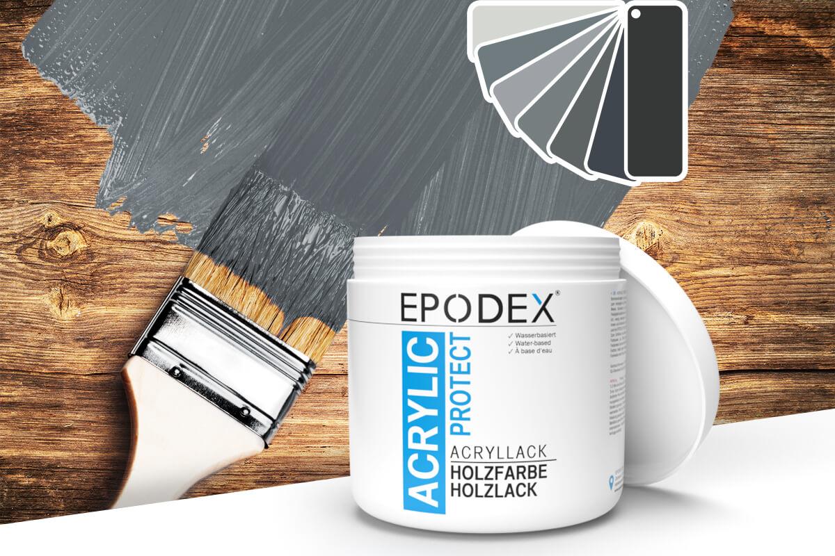 acryllack holzfarbe grau