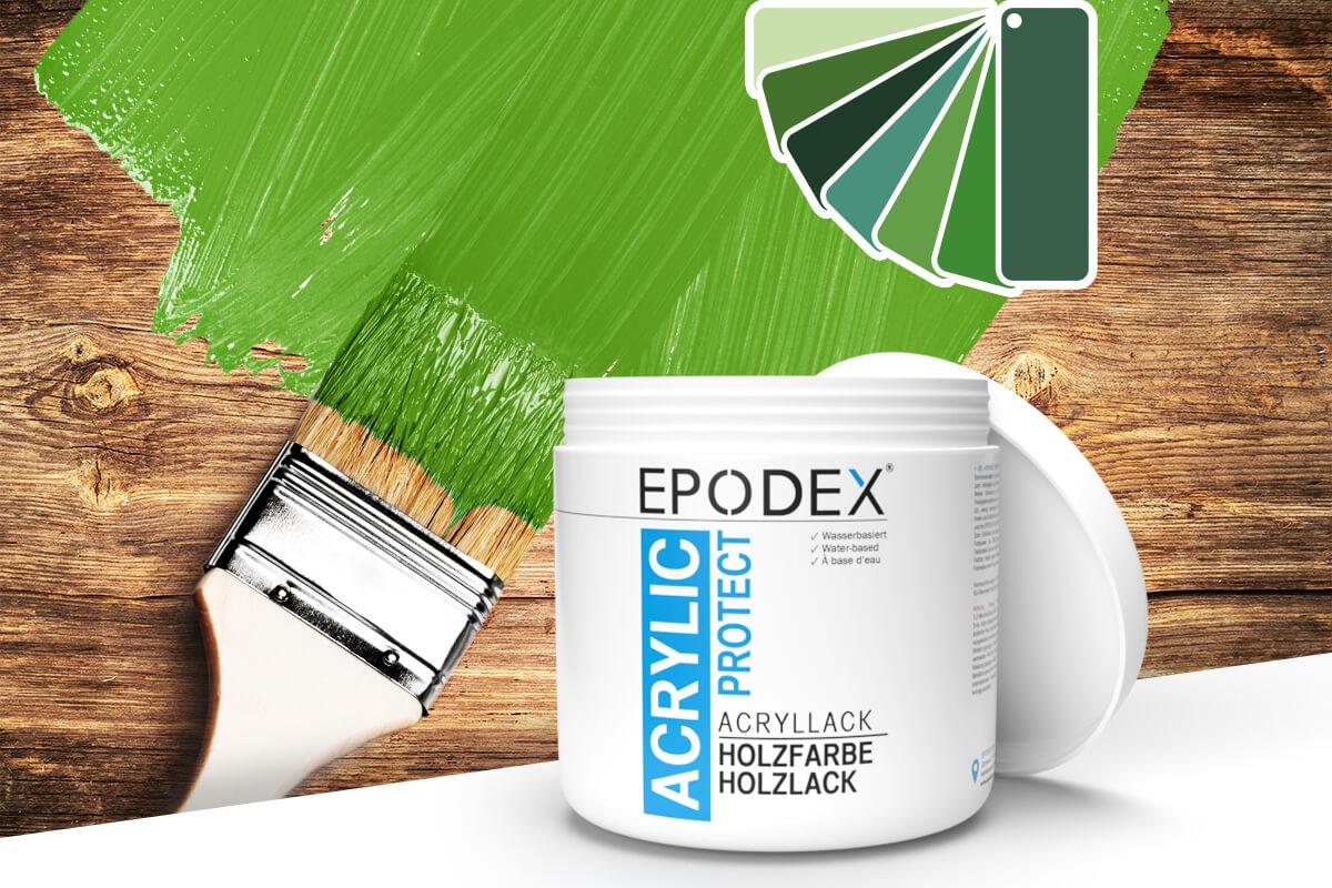 acryllack holzfarbe gruen