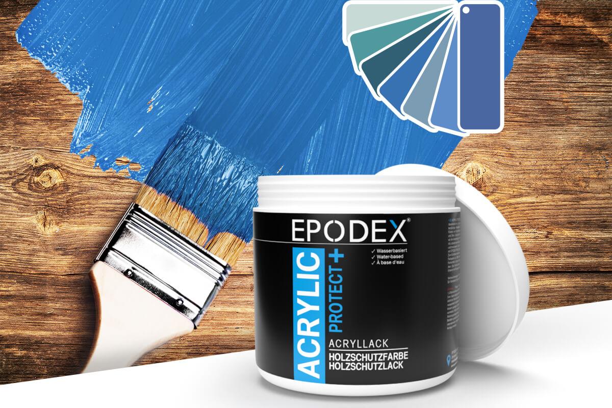 acryllack holzschutzfarbe blau