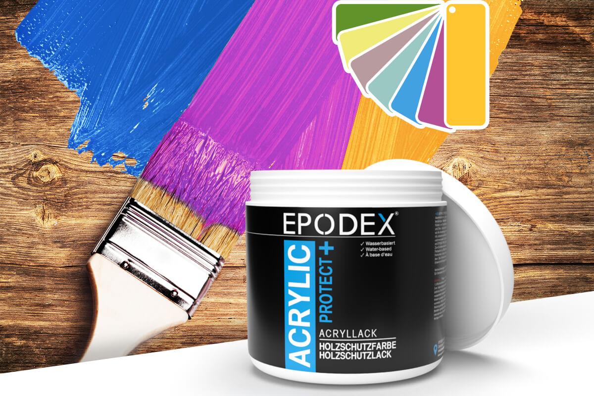 acryllack holzschutzfarbe bunt