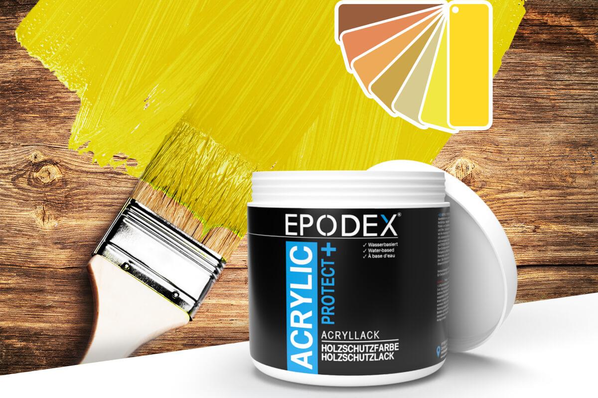 acryllack holzschutzfarbe gelb
