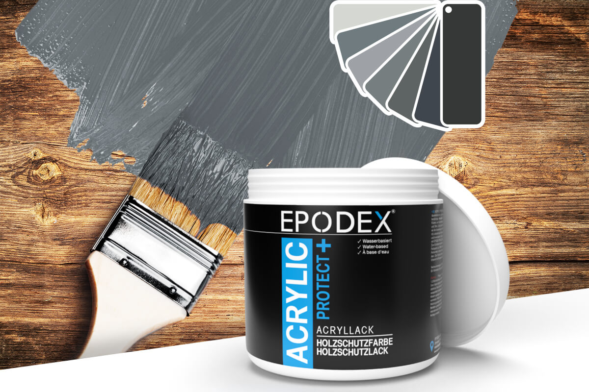 acryllack holzschutzfarbe grau