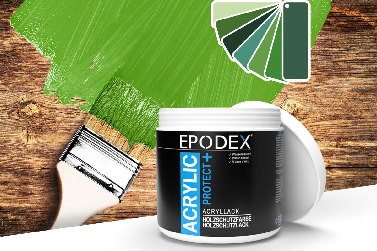acryllack holzschutzfarbe gruen