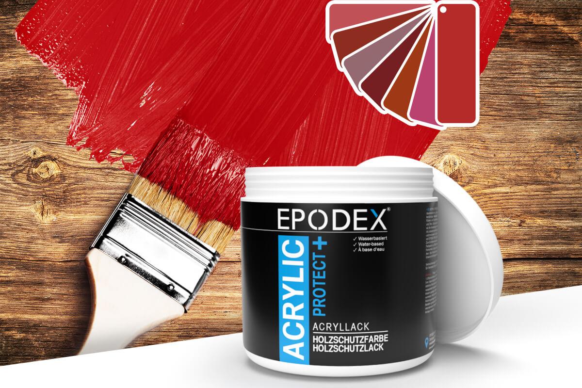 acryllack holzschutzfarbe rot