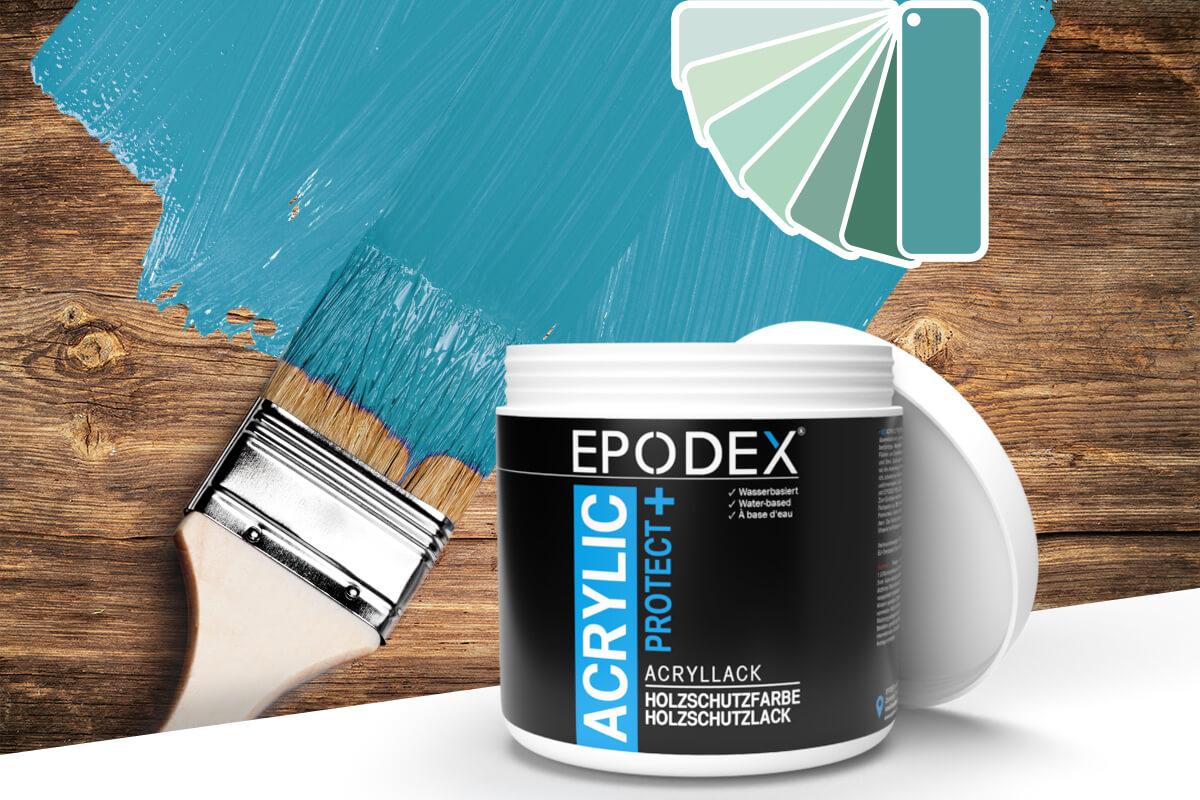 acryllack holzschutzfarbe tuerkis