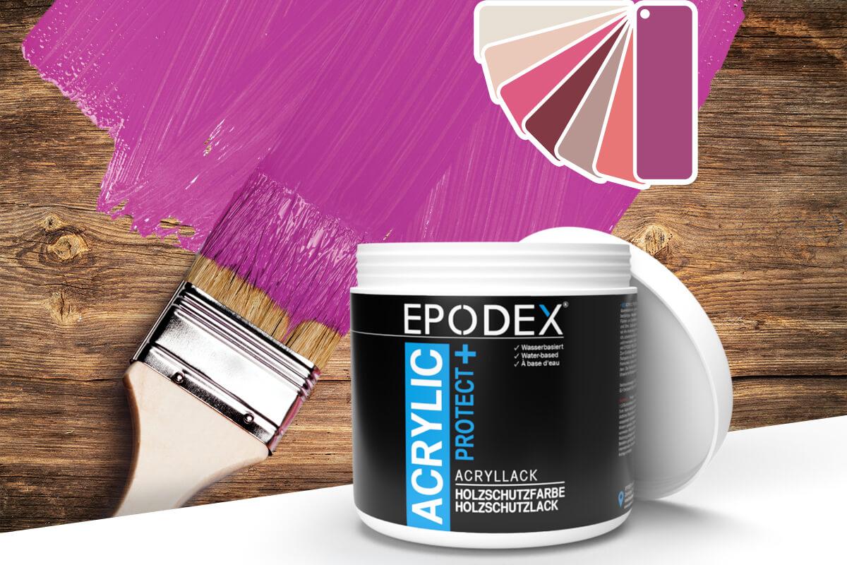 acryllack holzschutzfarbe violett