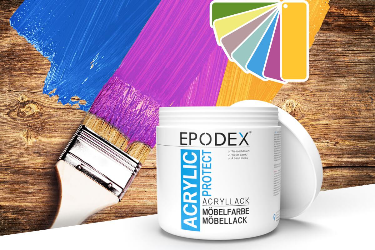 acryllack moebelfarbe bunt