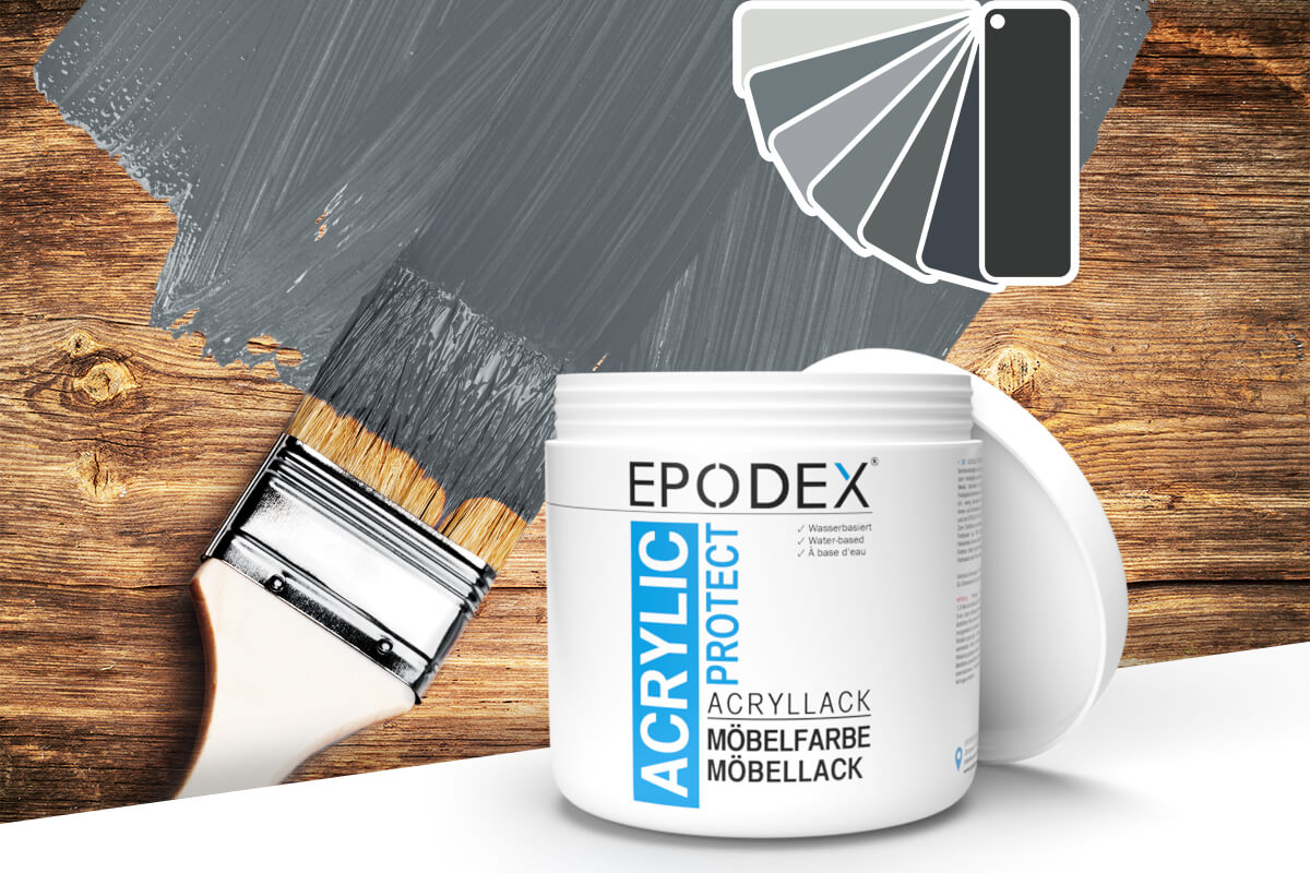 acryllack moebelfarbe grau