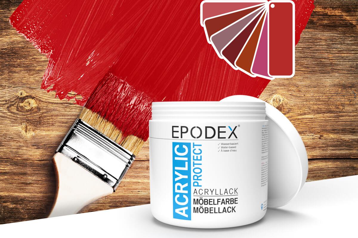 acryllack moebelfarbe rot