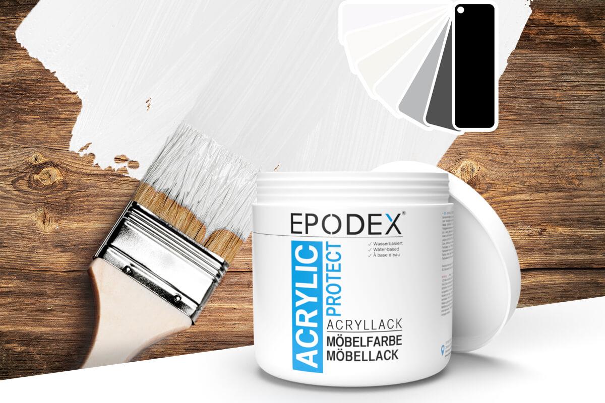 acryllack moebelfarbe schwarz weiss