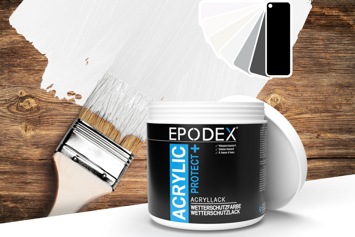 acryllack wetterschutzfarbe schwarz weiss