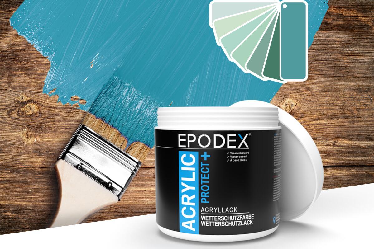acryllack wetterschutzfarbe tuerkis