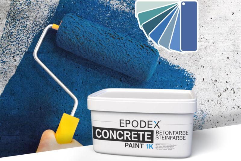 betonfarbe concrete paint blau