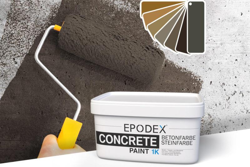 betonfarbe concrete paint brown