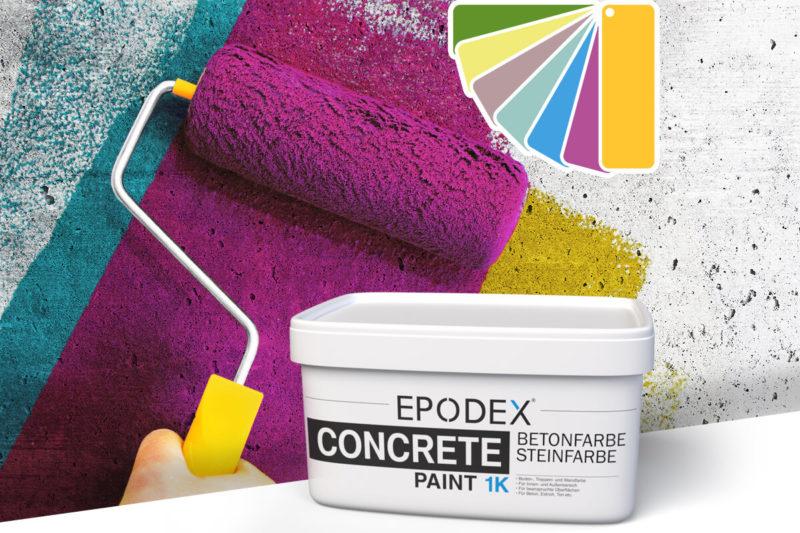 betonfarbe concrete paint bunt