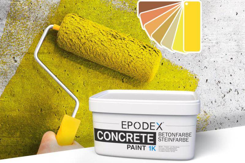 betonfarbe concrete paint gelb