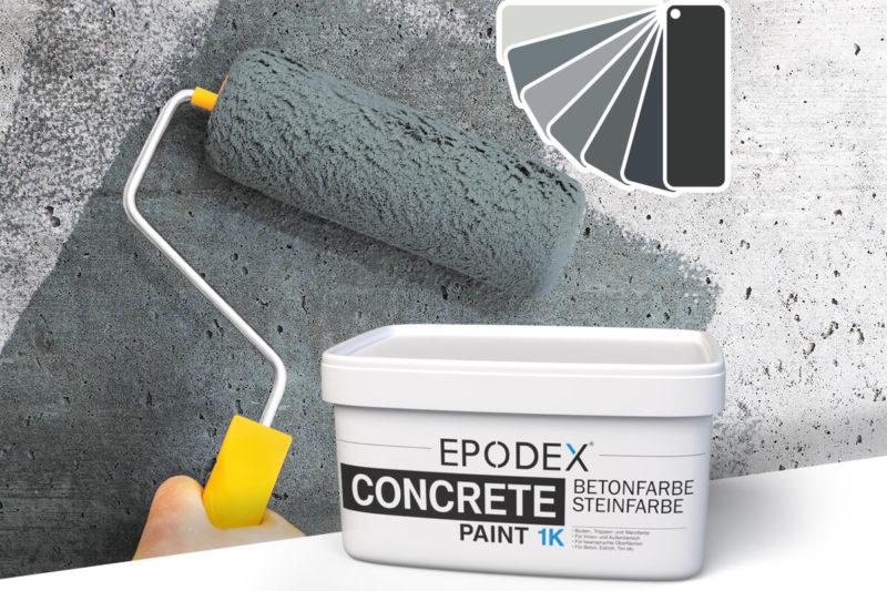 betonfarbe concrete paint grau